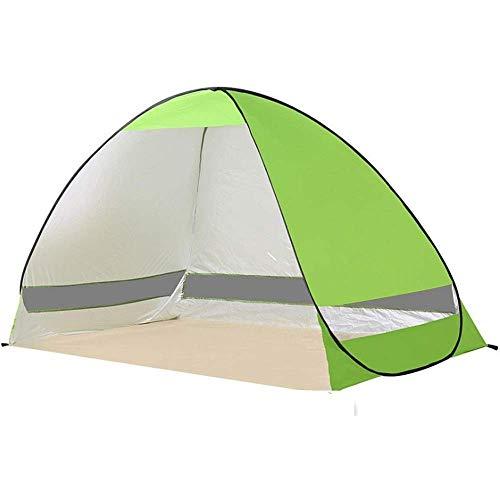 2021 New Carpa Sombrilla de playa Toldo exterior Cabina UPF 50+ Sombrilla Portátil Camping Pesca Senderismo Canopy Automático Emergente Carpa de playa impermeable Super Blue Beach para pesca con mochi