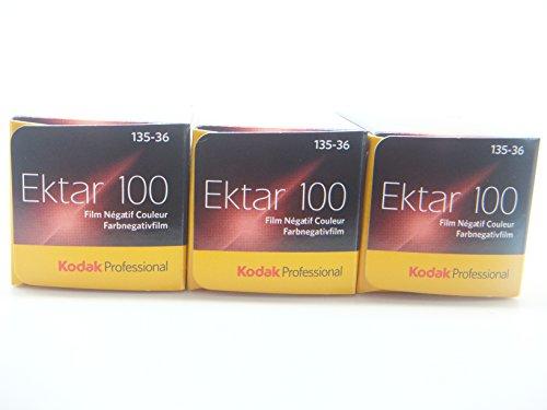 Kodak Professional Ektar 100-135-36 - Pack de 3 carretes de película fotográfica en Color, 36 exposiciones Aprox