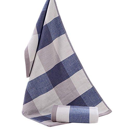 BOLANQ - Toalla (34 x 74 cm, algodón Suave, Fibra de bambú), algodón, Azul, Tamaño Libre