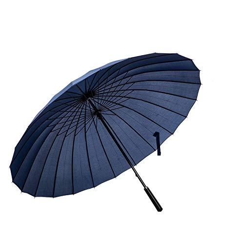 ThreeH Groß Golf Regenschirm 24 Rippen Sturmfester Geschäft Sonnenschirm Stockschirm KS07,Blue