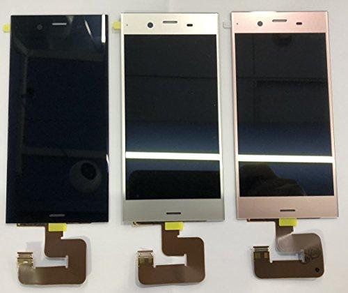 Sony Xperia XZ1 交換用 液晶パネル フロントパネル セット Kayyoo フロントガラス デジタイザ タッチパネル フロントスクリーン 交換パーツ 粘着テープ+修理工具付き (Xperia XZ1, ブラック)