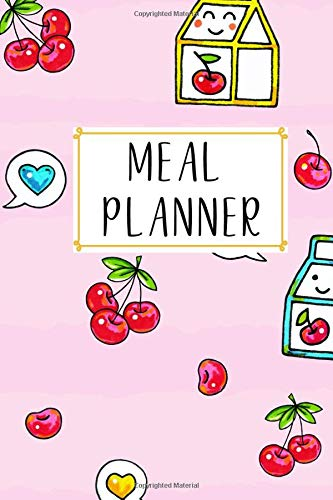 Meal Planner: Funny Kawaii Meal Planner Notebook Book Tracker Plan Meals Daily Weekly Monthly 52 Week Food  Diary Log Journal Calendar Macro Meal Prep And Planning Grocery Shopping List Stripes