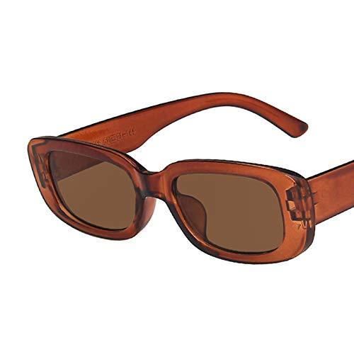 Gafas De Sol Gafas De Sol Rectangulares Pequeñas para Mujer, Gafas De Sol Cuadradas Vintage para Mujer, Uv400 C6Brown