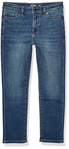 Amazon Essentials Kids Boys Stretch Slim-Fit Jeans, Everest Medium Wash, 8 Slim