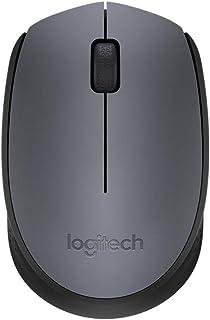 لوجيتك M170 فأرة اتصال لاسلكي متوافقة مع أجهزة الكمبيوتر المحمولة و الكمبيوتر - رمادي داكن
