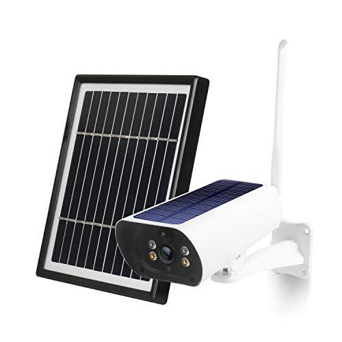 Etase CáMara IP Solar 1080P CáMara al Aire Libre Impermeable InaláMbrica de la Vigilancia de la Seguridad de la BateríA de 2MP WiFi CáMara de Audio Bidireccional