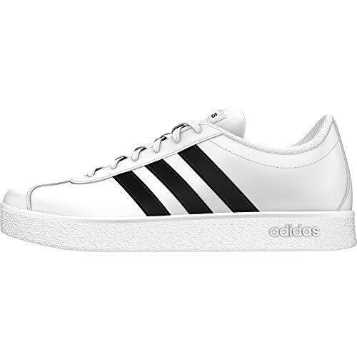 adidas VL Court 2.0 K, Scarpe da Tennis Unisex-Bambini, Bianco (Ftwwht/Cblack/Ftwwht 000), 34 EU