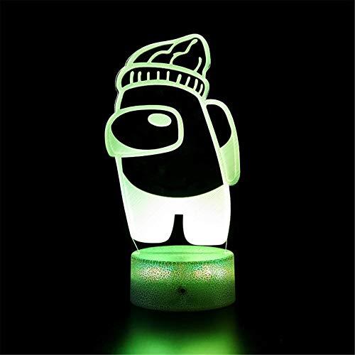 3D noche luz LED lámpara de ilusión óptica entre nosotros con control táctil regalos de cumpleaños de Navidad para niños