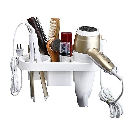 CROWNXZQ Estante de baño secador Pelo perforación Libre conducto Aire Marco, Soporte Montaje en Pared para Inodoro Peine afeitadora Organizador Multifuncional Cepillo Dientes cosmético