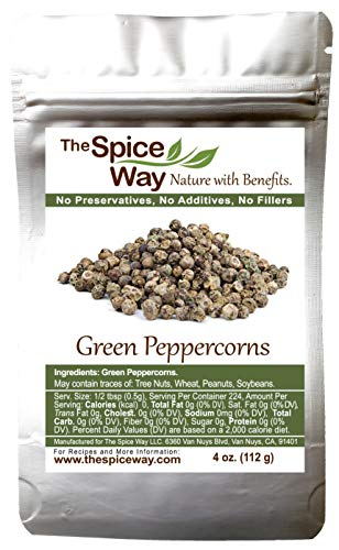 The Spice Way Green Peppercorns - 4 oz