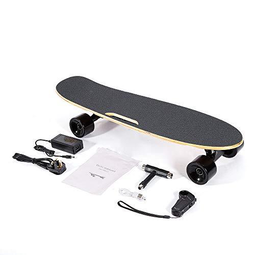 WUPYI2018 20km/h Skateboard Elettrico Cruiser Retro Longboard Complettboard Remote 70CM Load Max 60KG