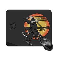 日本の戦士マウスパッド ゲーミング オフィス最適 高級感 おしゃれ耐久性が良 付着力が強い20x25x0.3cm