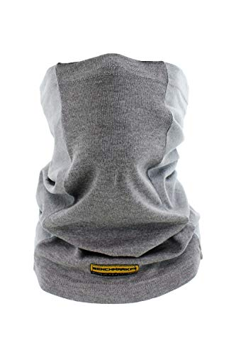 BENCHMARK FR Flame Resistant Face Mask Neck Gaiter, One Size, Light Gray