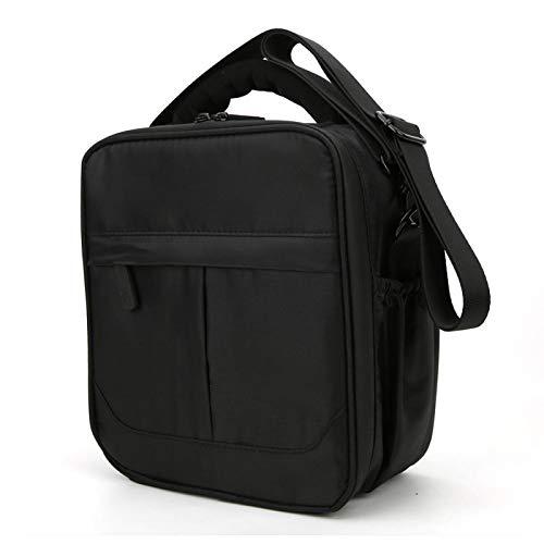 KUIDAMOS Bolsa de Almacenamiento de Hombro portátil Liviana Bolsa de Almacenamiento Aspecto portátil Simple con Cremallera de 2 vías para Control Remoto Coche RC(Black)