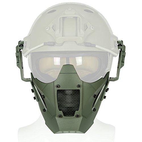 Hunting Explorer Halbe Gesicht Stahlgitter Schutzmaske Taktische Unteren Gesichtsmaske Für Airsoft Wargame Cosplay