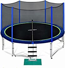 Zupapa 15 14 12 10 8FT Trampoline for Kids with Safety Enclosure Net 425LBS Weight Capacity Outdoor Backyards Trampolines with Non-Slip Ladder All Accessories for Children Adults Family?12FT?