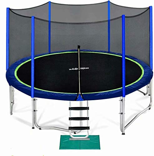 Zupapa 15 14 12 10 8FT Trampoline for Kids with Safety Enclosure Net 425LBS Weight Capacity Outdoor...