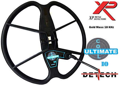 """DETECH Search Coil For XP GoldMaxx Power 18KHz Metal Detectors With Coil Cover Included (13\"""")"""