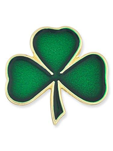 PinMart Lucky Green Shamrock 3 Leaf Clover St. Patrick's Day Enamel Lapel Pin
