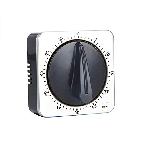ALG Hochwertiger mechanischer Edelstahl-Zeitgeber, magnetischer Countdown-Zeitgeber, mechanischer Retro-Tick, leicht und geeignet für Lernen, Fitness, Ernährung