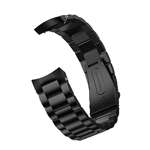 T-ENGINE Correa de reloj de acero inoxidable de liberación rápida, compatible con reloj Gaxlaxy de 42 mm, para mujeres y hombres