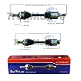 SurTrack Pair Set of 2 Front CV Axle Shafts For Mazda 6 Mazdaspeed 2006-2007