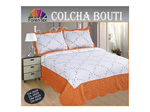 ForenTex Tagesdecken DL-2629 mit Rüsche, orange
