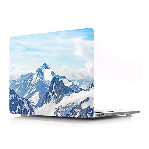 AJYX Laptop Case Only Compatible with MacBook Pro 16' Model A2141 (2020/2019 Release) Matte Rubberized Protective Plastic Case Hard Shell Cover Mac Pro 16 Inch with Touch Bar, Sky & Snow Mountain