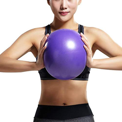 ZLBZBB Kleiner Gymnastikball 25 cm Soft Pilates Yoga Ball Kerntraining und Physiotherapie, verbessert das Gleichgewicht (Büro & Heim & Fitnessstudio) Purple