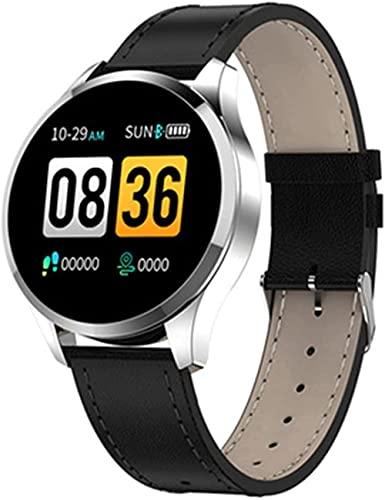 TYUI Pulsera inteligente Full Circle Screen Sleep Alarm Clock Multi-Sports Mode Hombres s y Mujeres s Relojes-B