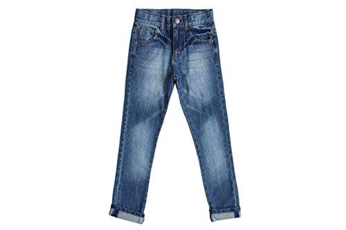 Bienzoe Jungen Baumwolle Einstellbare Taille Schlank Jeans Hosen Denim Blau 7