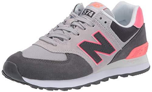New Balance 574v2, Zapatillas para Mujer, Negro (Black/Pink SOP), 37.5 EU