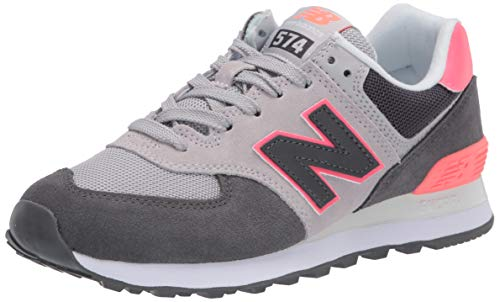 New Balance Damen WL574 B Sneaker, Schwarz (Black/Pink SOP), 40.5 EU