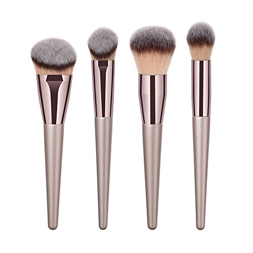 WINJIN Set de Pinceaux à Maquillage Pinceaux de Maquillage Kit Cosmétique Brush Make Up Tool Set Professionnelle, Poils Synthétiques Vegan, 4pcs/9pcs/10pcs