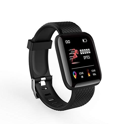 Reloj Inteligente 116 Plus Pantalla a Color Tft de 1.3 Pulgadas Reloj Deportivo Inteligente de seguiento de Actividad Deportiva Impermeable - Negro - 1 Tamaño