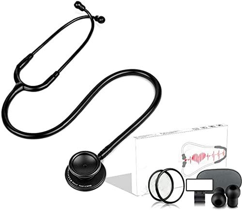 Estetoscopio dedicado para pediatra con conversión de frecuencia médica para auriculares Profesionales para adultos para adultos Fetal Fetal Sound Cabeza doble, 28.34 pulgadas