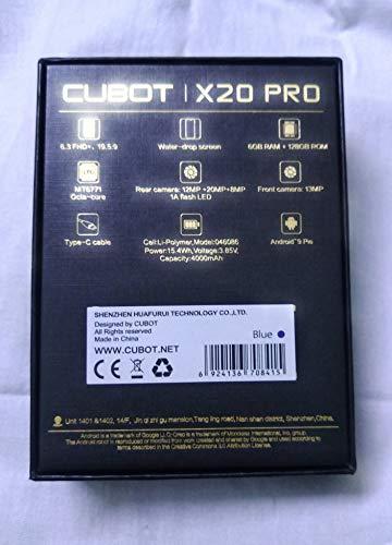 CUBOT X20 Pro Dual SIM 128GB 6GB RAM Blue