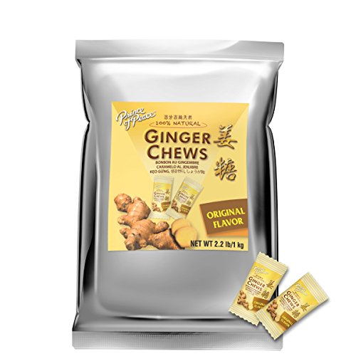 Prince of Peace 100% Natural Ginger Candy (Chews), 2.2lb/1kg by Prince Of Peace