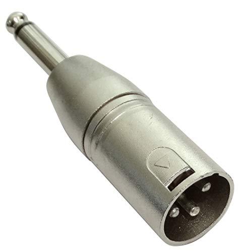 AERZETIX - C43856 - Adaptador Conector Jack XLR - Enchufe 6,35mm -...
