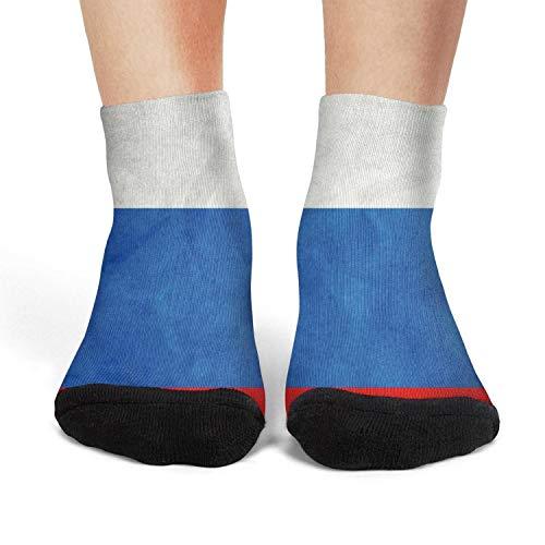 Women's Ankle Crew Socks Russian Flag Crazy Novelty Socks Casual Athletic Crew Socks