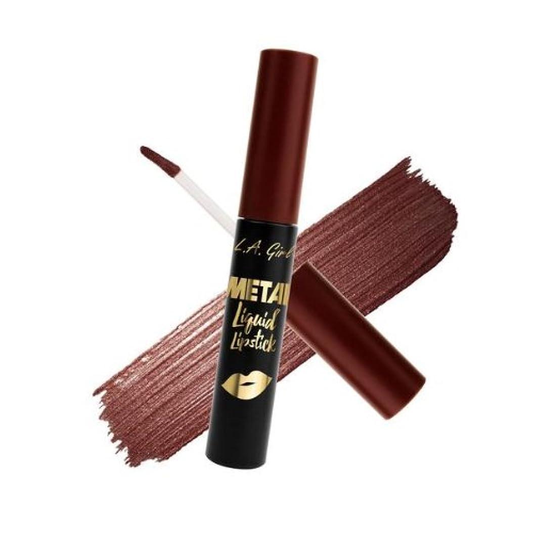 加害者信者王朝(3 Pack) L.A. GIRL Metal Liquid Lipstick - Bronzed (並行輸入品)