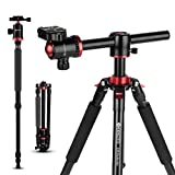 GEEKOTO Tripod Camera Tripod for DSLR Compact 191cm Aluminum Alloy Tripod with 360