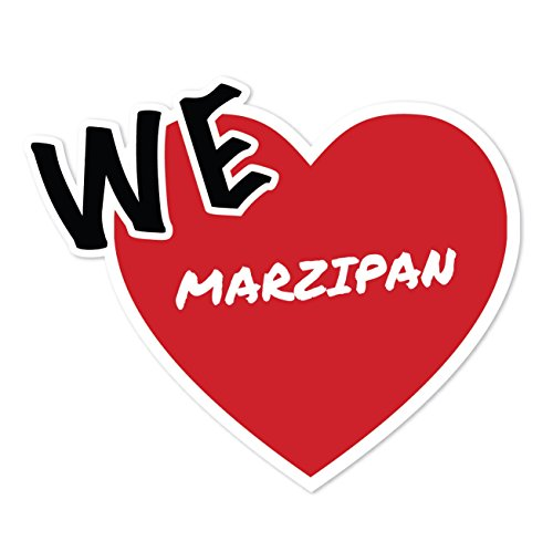 JOllify Sticker - Marsepein - 10cm - Design: We love - Wir liebe