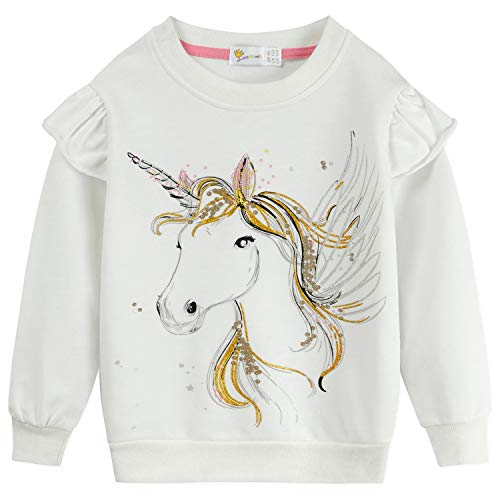 DHASIUE Baby Girls Unicorn Sweat...