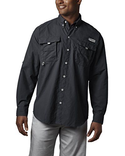 Columbia Men's Bahama II Long Sleeve Shirt (Large, Black)