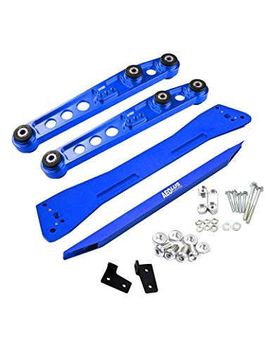 BLACKHORSE-RACING Fit for Honda Civic & Acura Integra Rear Lower Control Arm Subframe Brace Tie Bar Blue
