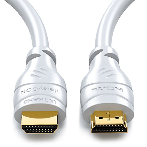 deleyCON 10m HDMI Kabel HDMI 2.0 / 1.4a kompatibel High Speed mit Ethernet (Neuster Standard) ARC 3D 4K Ultra HD (1080p/2160p)