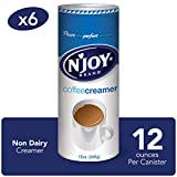 N'Joy Coffee Creamer, 12 Ounce (Pack of 6) - Non-Dairy, Easy Pour Lid, Bulk Size