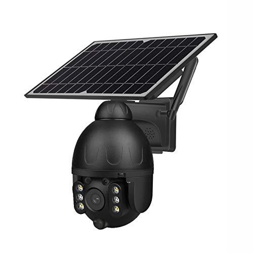 ZJ 1080p HD 4G Cámara Solar De Bajo Consumo De Energía De Dos Vías Audio DE Audio DE Audio Alarma De Intrusión WiFi Cámara Monitoreo Al Aire Libre Cámara Impermeable(Color:WiFi 64G)