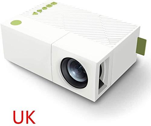 Tragbarer Projektor Heimkino-1080P High Definition LED-Licht-Projektor mit Wireless WiFi Display-TV-Dongle-Empfänger (blau) plm46